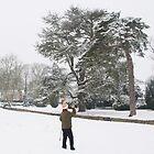 Winter scene in Bury Knowle Park Headington Oxford by Eugene Francis Cummings