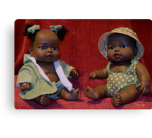African French Dolls Canvas Print