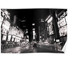 Rainy night in Time Square Poster