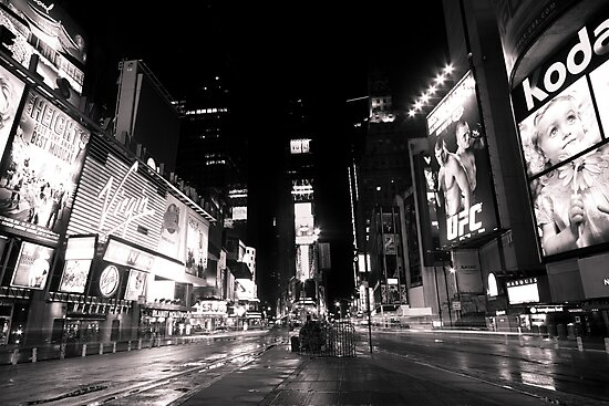 Rainy night in Time Square by 64iso