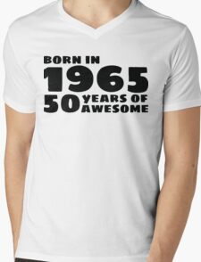 Born in 1965 - 50 Years of Awesome Mens V-Neck T-Shirt