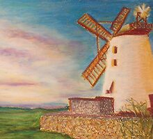 Ballycopeland Windmill, Northern Ireland by EWhitesideArt