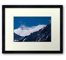 View from Lac du Chambon, The French Alps Framed Print