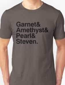 The Crystal Gems - Black Unisex T-Shirt
