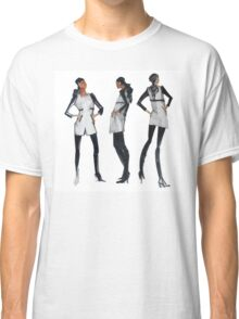 For Stylish Fashion Girls in white and black and tweed Classic T-Shirt
