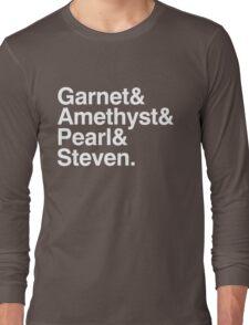 The Crystal Gems - White Long Sleeve T-Shirt