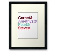 The Crystal Gems - Gem Colors Framed Print