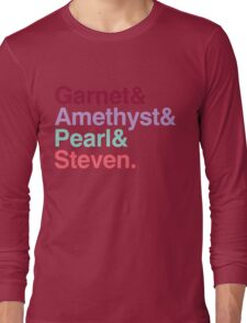 The Crystal Gems - Gem Colors Long Sleeve T-Shirt