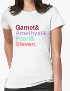 The Crystal Gems - Gem Colors Womens Fitted T-Shirt