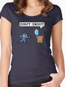 Mega Man Robs Link Women's Fitted Scoop T-Shirt