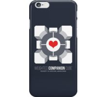 Weighted Companion Cube Loves You iPhone Case/Skin