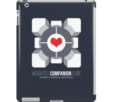 Weighted Companion Cube Loves You iPad Case/Skin