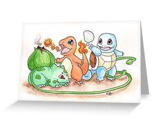 Pokemon Rock Paper Scissors  Greeting Card