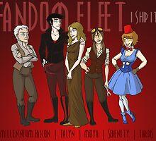 Fandom Fleet (print) by IggyMarauder