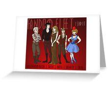Fandom Fleet (print) Greeting Card