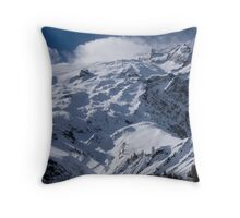 Glacier du Rateau, The French Alps Throw Pillow