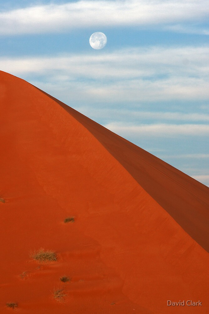 Blue Moon Red Dune by David Clark