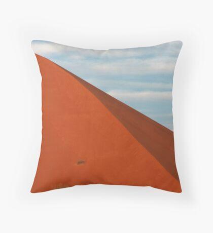 Blue Moon Red Dune Throw Pillow