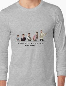 Evolution of Glee || Kurt Long Sleeve T-Shirt
