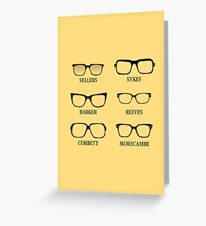 Funny Glasses Greeting Card