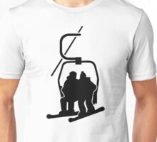 Chairlift snowboarder Unisex T-Shirt