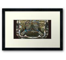 Lotus Carved Gem Stone Framed Print
