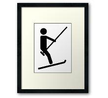 Ski lift Framed Print