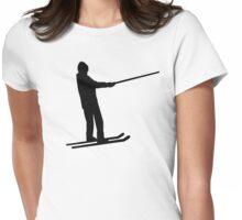 Ski drag lift Womens Fitted T-Shirt