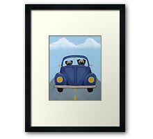 Pugs in a Bug Framed Print