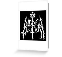Justin Bieber Metal Shirt  Greeting Card