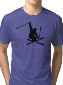 Skiing jump Tri-blend T-Shirt