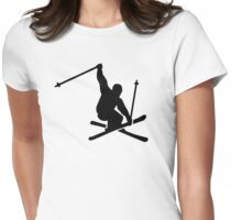 Skiing jump Womens Fitted T-Shirt