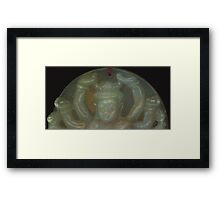 Carved Deity Study  Framed Print