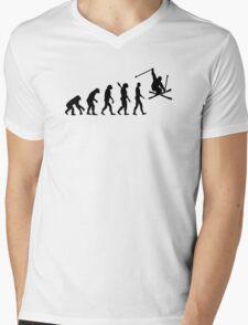 Evolution skiing Mens V-Neck T-Shirt