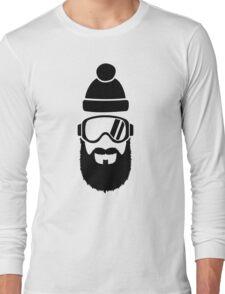 Ski goggles full beard Long Sleeve T-Shirt