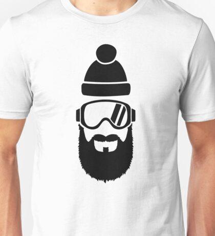Ski goggles full beard Unisex T-Shirt