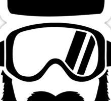 Ski goggles full beard Sticker