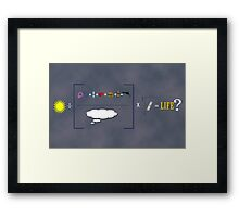 Equation of Life Poster Framed Print