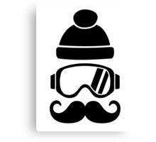 Ski snowboard hat mustache Canvas Print