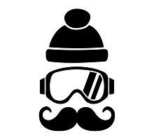 Ski snowboard hat mustache Photographic Print