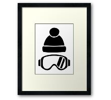 Ski goggles hat Framed Print
