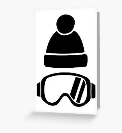 Ski goggles hat Greeting Card