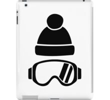 Ski goggles hat iPad Case/Skin