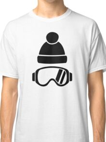 Ski goggles hat Classic T-Shirt
