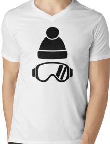 Ski goggles hat Mens V-Neck T-Shirt
