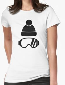 Ski goggles hat Womens Fitted T-Shirt