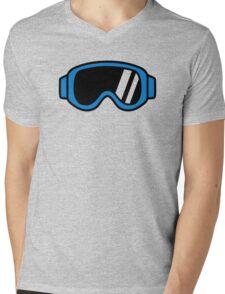 Ski goggles Mens V-Neck T-Shirt