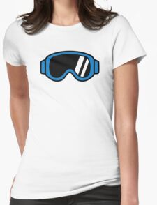 Ski goggles Womens Fitted T-Shirt