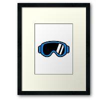 Ski goggles Framed Print