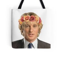 Owen Wilson Flower Crown Tote Bag